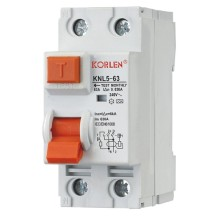 Economic Model Residual Current Circuit Breaker RCCB Knl5-63 30, 100, 300mA with Ce CB IEC61008-1 Made by Korlen