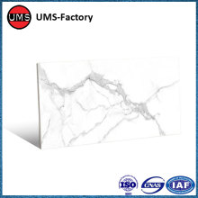 Large format marble effect tiles carrara white