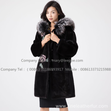 Kopenhagen Reversible Mink Fur Hooded Coat Women