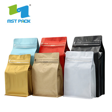Factory competitive price custom printing aluminum foil kraft coffee bag/custom printing coffee bag