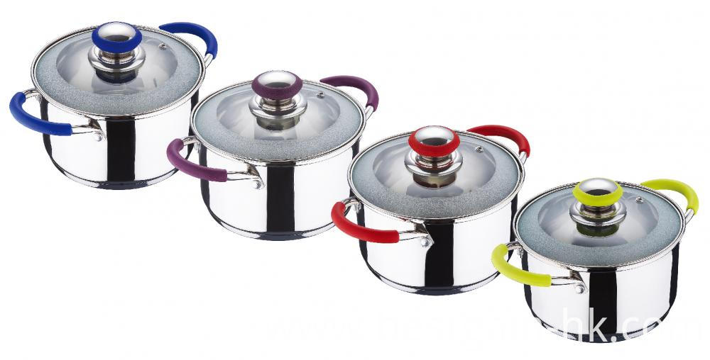 Stainless Steel Pot with Silicone Handle