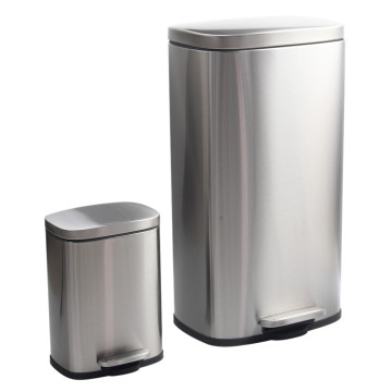 StainlessSteel Step Trash Can with Odor Control System