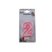 Colored birthday cake number candle