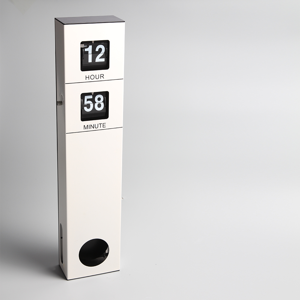 Long Pendulum White Hanging Flip Clock