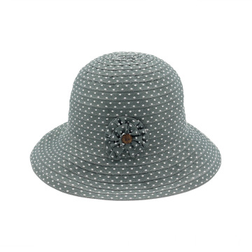 Polka dot pattern cloth hat cowboy bucket hat