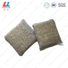 Cube style silver scouring sponge pad