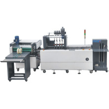 Paper stitching and folding machine