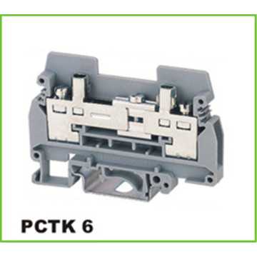 DIN Rail Industrial Distribution Screw Terminal Block 6mm2