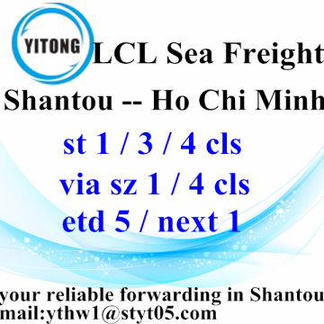 Factory Free sample for LCL Shipments Shantou to Hochiminh LCL Consolidation Freight agent supply to Portugal Wholesale