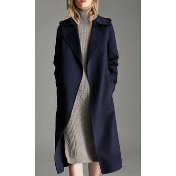 Women's Pure Cashmere Full Length Overcoat