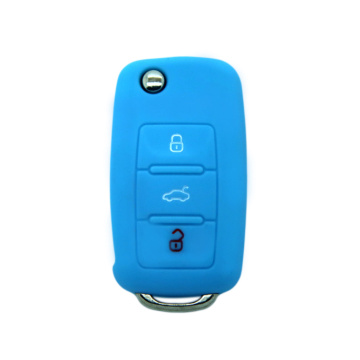 Magnetic new 3 buttons silicone car key cover