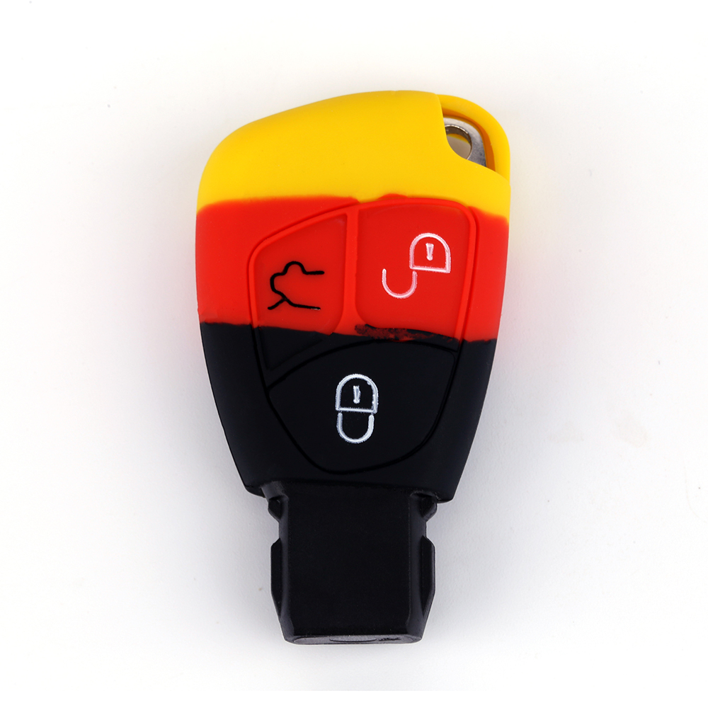 3 Buttons Silicone Key Case