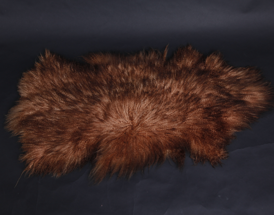 Mongolian Lamb Skin Dyed in Double Color