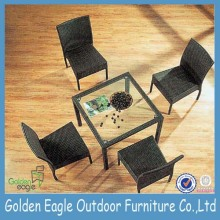 PE Rattan& Aluminum Outdoor Table and Chairs