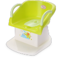 Foldable plastic toilet trainer seat for children