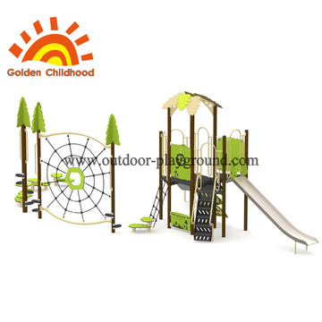 Simple Green Style Outdoor Playground Equipment For Children
