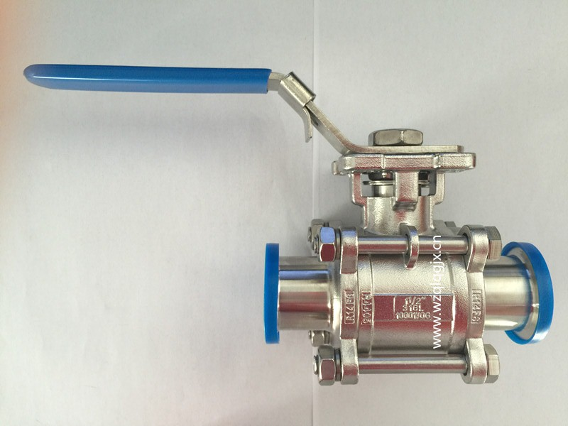 Sanitary High Platform Clamped Three-Way Ball Valve