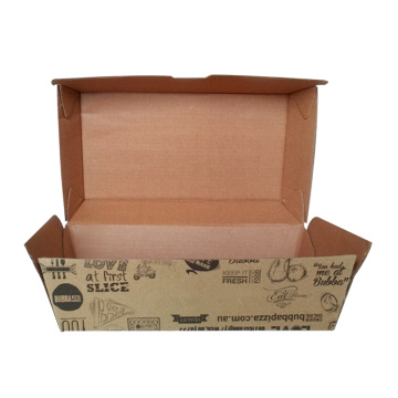 Corrugated burger box kraft burger box