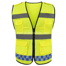 100% popular yellow Roadway traffic reflective jacket