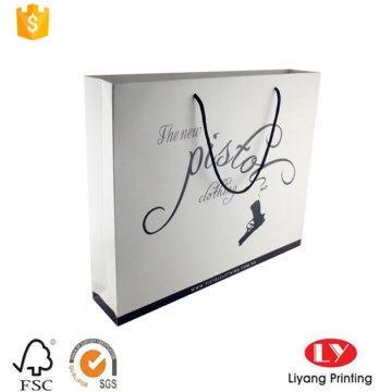 Wedding White Paper Bags with Black Handle