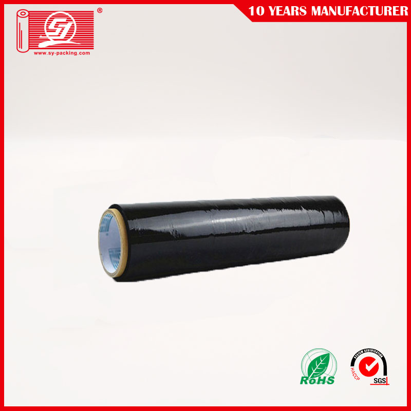 "Black Color Stretch Film 18"" 80 gauge"