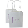 White Custom Design Embossing Paper Bag