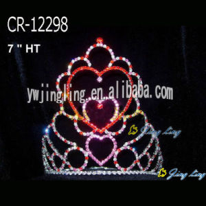 Colorful Heart Rhinestone Valentine's Day Crown Love