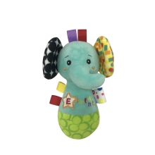 Blue Elephant Rattle Baby Toy