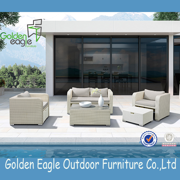 aluminium tube wicker patio furniture