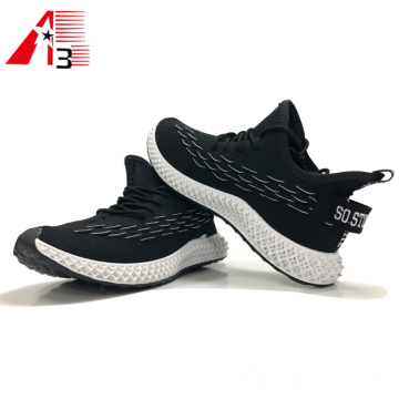 Embossed Fish Scale Fly Knit Shoes