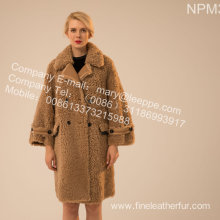Icelandic Lamb Fur Outward Coat Lady