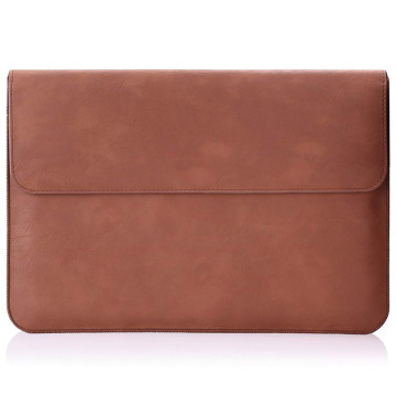 Durable Custom PU Leather laptop sleeve Cover