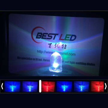 5mm RGB Flashing LED Clear Flat Top Slowly-36S