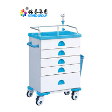 All purpose color steel rescue cart