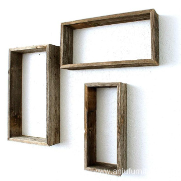 Rustic Farmhouse Floating Rectangle Shelves