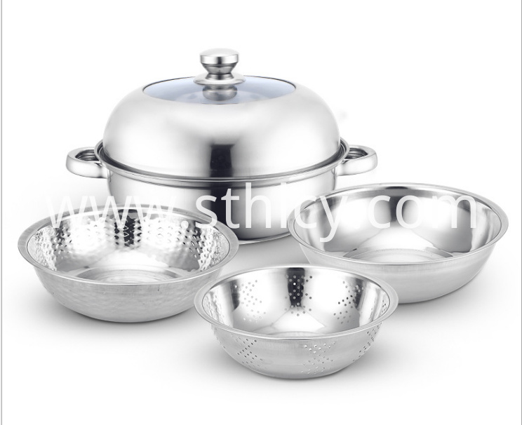 Stainless Steel Three Piece Rice Sieve3