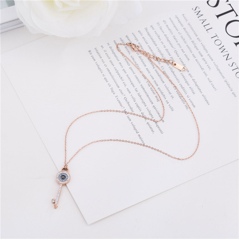 Key Necklace Rose Gold
