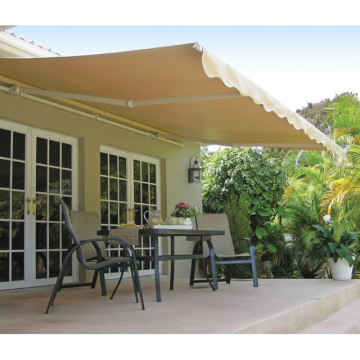 Retractable arms awning 2.5*1.5M Green/White Stripes