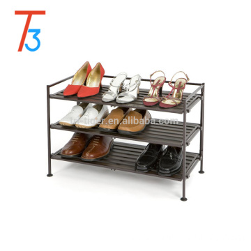 Classics 4 tier Resin-Wood Utility iron folding shoe rack