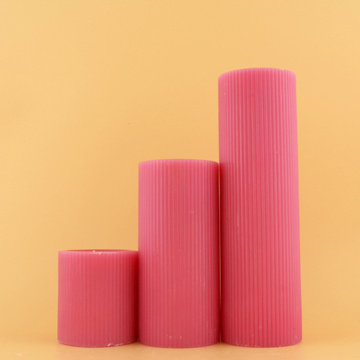 Concave Pink Colour Fluted Church Votive Candles