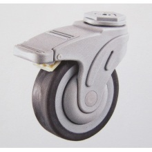 Plastic bolt hole brake hospital TPR caster