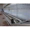 Crates POM conveyor of poultry processing line