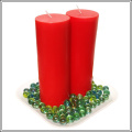 large size 8inch tall red decorative pillar candles