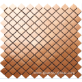 copper-colored stainless steel mosaic