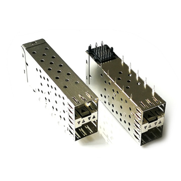 SFP 2*1 CAGE+CONNECTOR WITH 4 LIGHT PIP