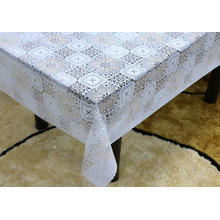 oval Printed pvc lace tablecloth by roll