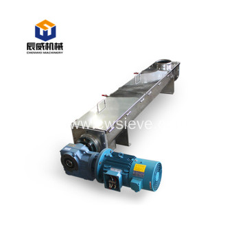 loading wood chip powder flexible screw conveyor