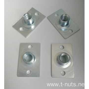 Two holes in square base T-nuts