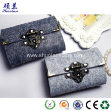 High Quality for Felt Card Bag With Zipper Felt card bag for women fashion style export to United States Wholesale