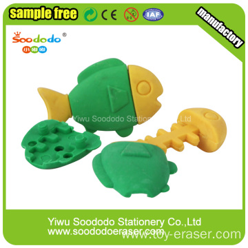Green Fish Shaped Eraser